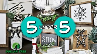 🎄 5 Ridiculously Easy Dollar Tree Christmas Diy's 🎄 | Under 5 Minutes |