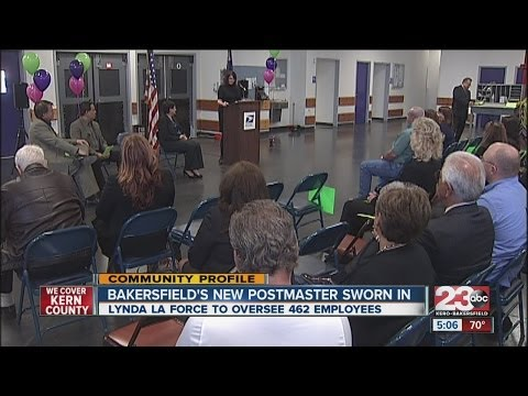 Bakersfield's New Postmaster Sworn In