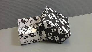 Halloween Origami Skull Pattern Boxes - Print Your Own Paper!