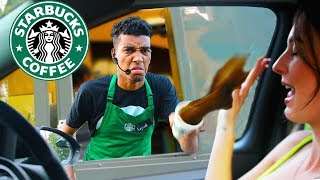 Fake Employee Prank At Starbucks Drive Thru