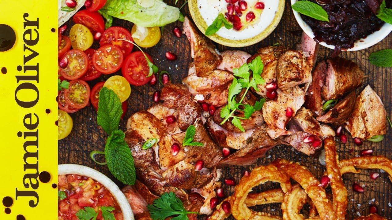 Jamie Oliver Dinner Party Ideas Part - 48: Posh Pork Kebabs | Jamie Oliver - YouTube