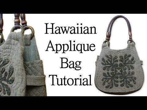 [퀼트 가방]Hawaiian Hand Applique Bag Tutorial I 하와이안 가방 만들기 להורדה