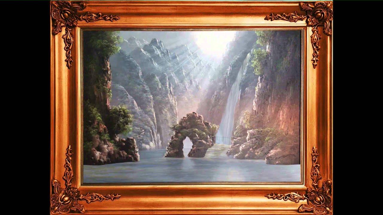 Blender tableau anim youtube - Cadre lumineux cascade ...