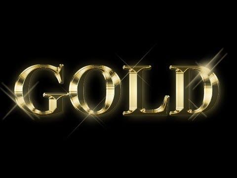 Как сделать золотые буквы фото 406