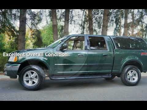 2003 Ford F-150 Lariat 4dr SuperCrew 4X4 114K Leather Seats Moon for sale in Milwaukie, OR