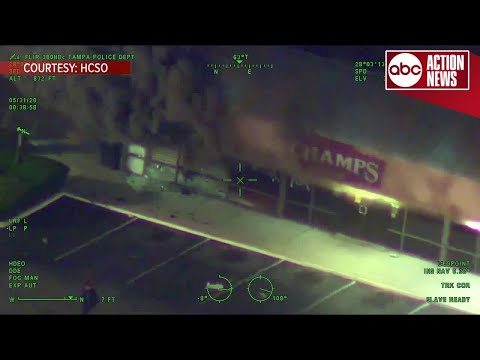 Unrest in Tampa: Hillsborough Co. Sheriff helicopter captures chaos and looting