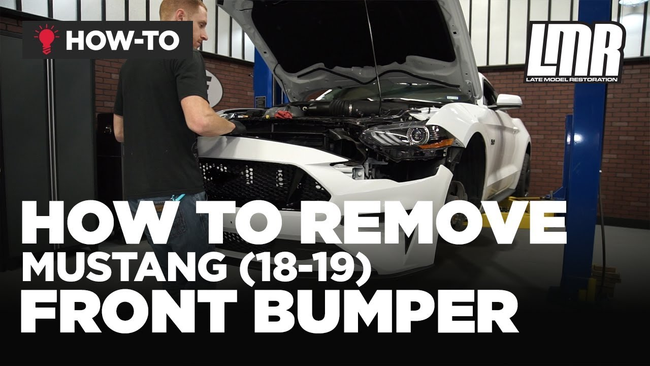 How to remove ford mustang front bumper 2018 2019
