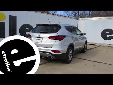 Trailer Hitch Installation - 2018 Hyundai Santa Fe - Draw-Tite - Etrailer.com