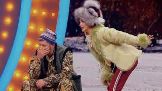 Жена на зимней рыбалке пилит мужа за плохой улов Реакция друзей бесценна Приколы 2021