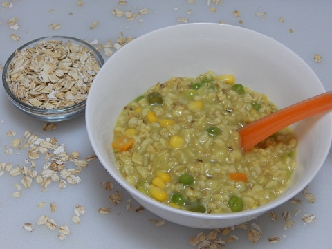 Healthy Baby Food Recipe - Vegetable Oats for Toddler & Kids l Oatmeal with Vegetables l 12+ months