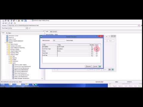 Using the Apply Button in Sage 100 ERP General Ledger Main Account Maintenance