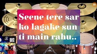 Pal pal dil ke pass  Rudranil Goswami drums cover and lyrics display..