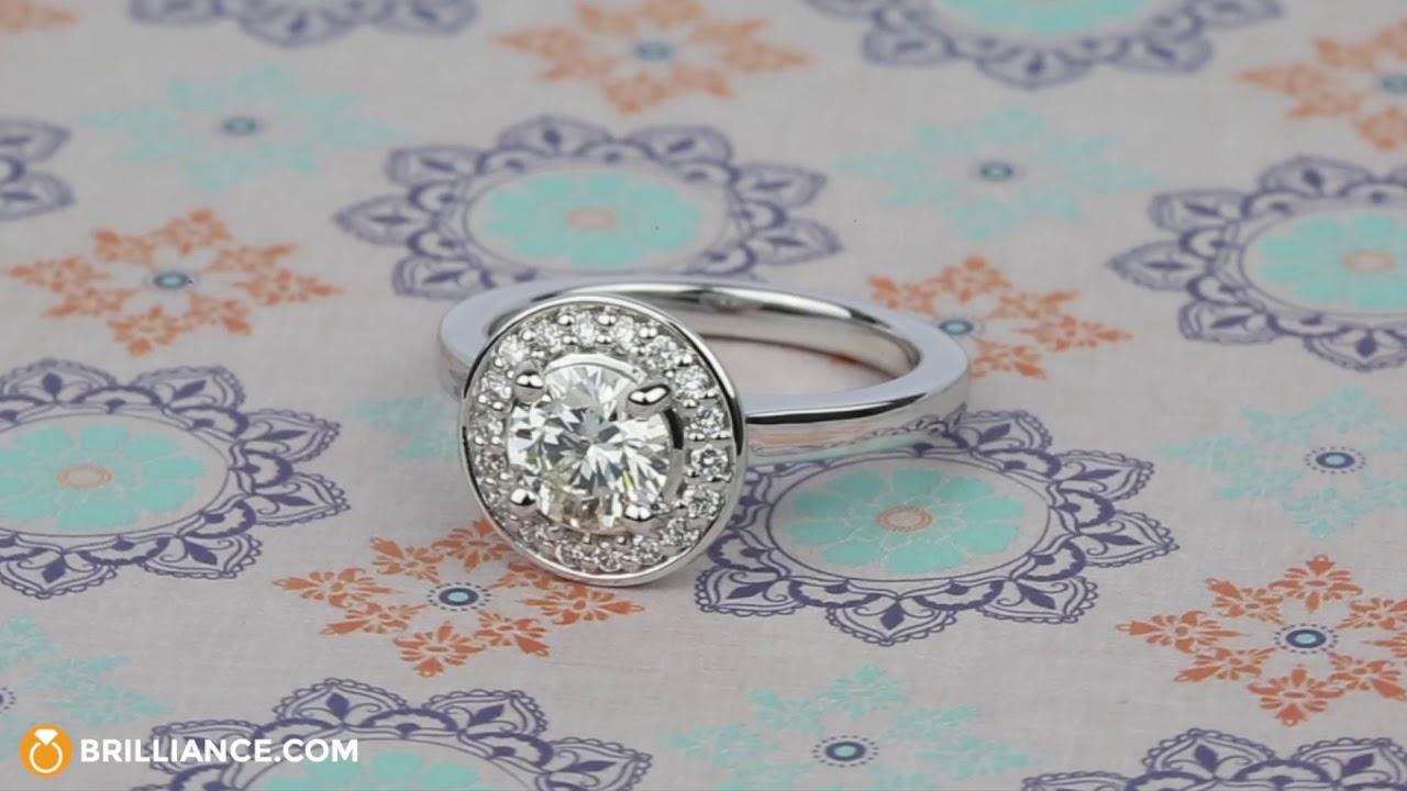 2bfb150f5 Floating Halo Round Diamond Engagement Ring (0.90 ct.) - YouTube