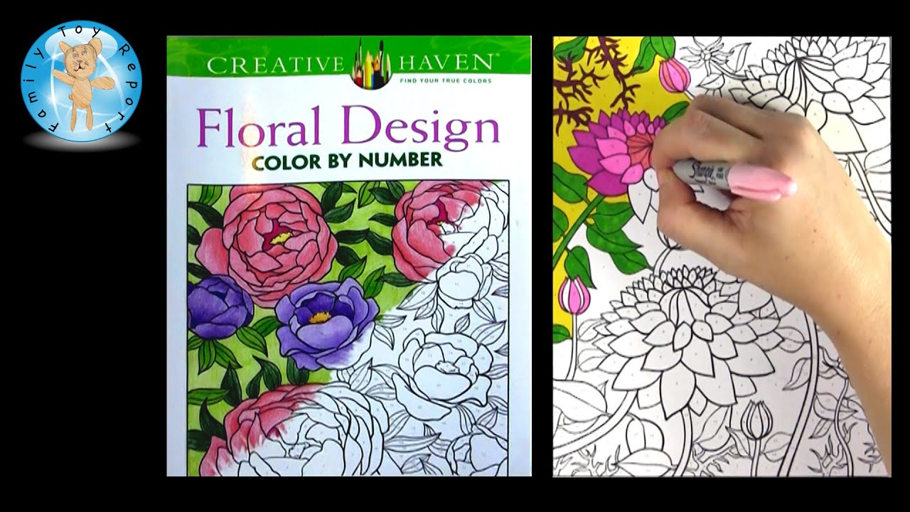 The coloring book analysis - Creative Haven Floral Design Adult Coloring Book Review Color By Number Family Toy Report