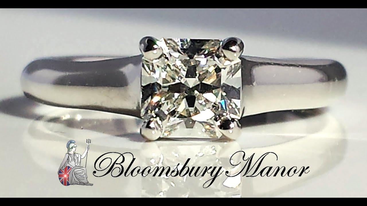 Tiffany & . 0.73ct Lucida Cut Diamond Engagement Ring