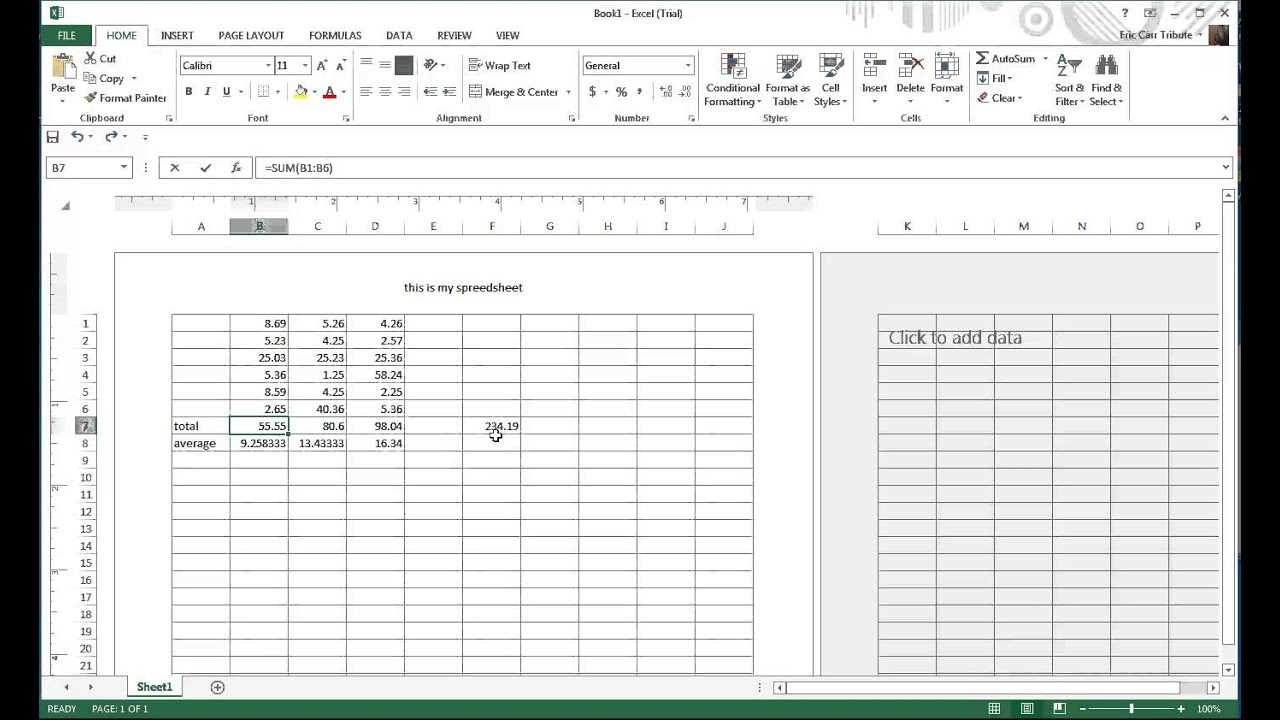 how to add a note to excel spreadsheet