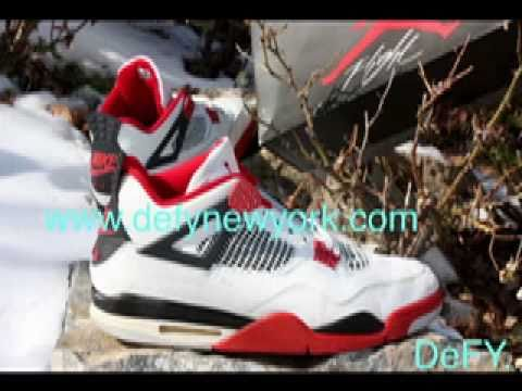 6b6b3751c0110d Nike Air Jordan IV Original Fire Red 1989 Release - YouTube