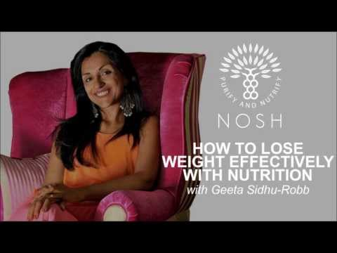 How To Lose Weight Effectively with Nutrition by Geeta Sidhu-Robb
