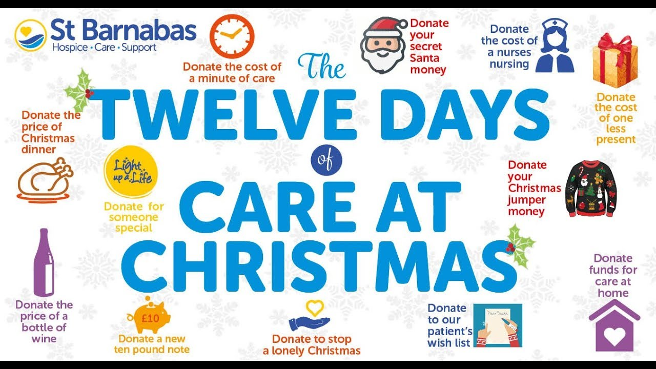 St Barnabas Hospice - The Twelve Days of Care at Christmas - YouTube