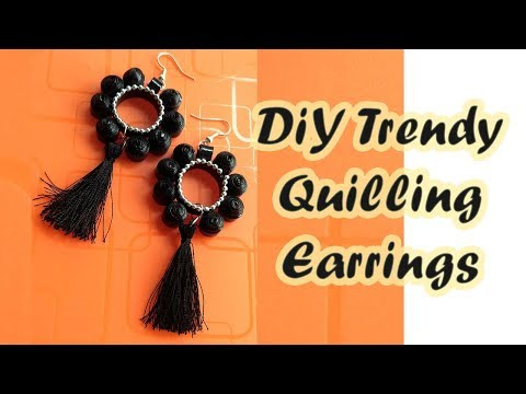 DIY Silk Thread Tassel Earrings With Paper Quilling | BeCre8ive