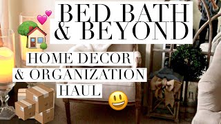 Bed Bath & Beyond haul | how-to Holiday Storage and organization ideas | beeisforbeeauty
