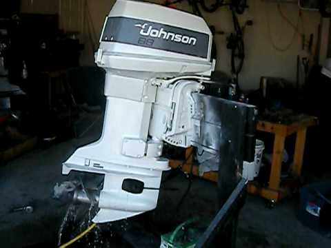 1988 johnson 88 spl running youtube johnson outboard motor diagram #4