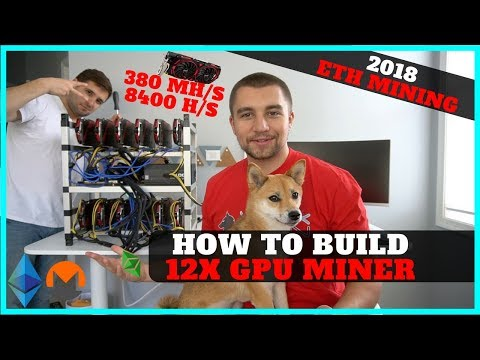 How To Build 12 GPU Mining Rig w/ RX 570 8gb - 380 mh/s ETH + 8400 hashes XMR