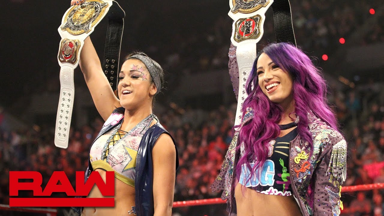 Sasha Banks & Bayley celebrate their WWE Women's Tag Team ...