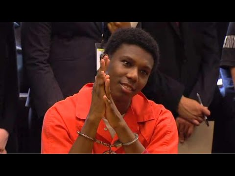 VIDEO: 17-year-old convicted killer smiles in court while victim's family speaks