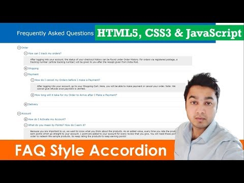 Build An Accordion Menu - No Frameworks Or Dependencies | Accordion Menu Tabs | HTML5, CSS3 & JS