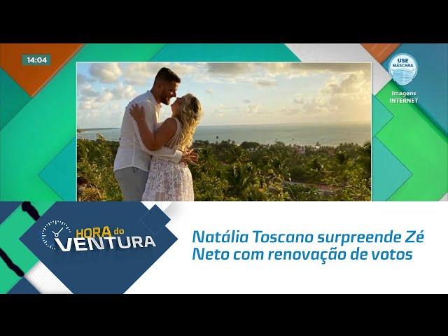 Natália Toscano surpreende Zé Neto com renovação de votos de casamento em Maragogi