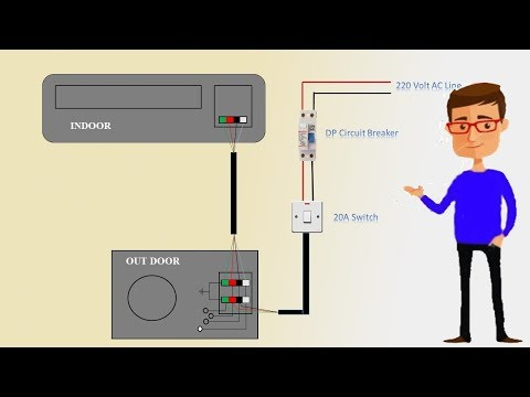 [DIAGRAM_38IS]  Single Phase split AC indoor outdoor wiring diagram | air conditioning |  Earthbondhon - YouTube | Wiring Diagram Of Split Type Aircon |  | YouTube