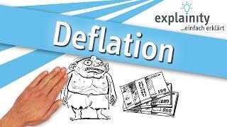 Deflation einfach erklärt (explainity® Erklärvideo)