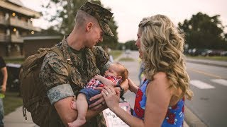DAD MEETS BABY FOR THE FIRST TIME | WELCOME HOME, MARINE