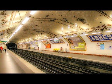 A Walk Through Metro Station Abbesses, Montmartre, Paris