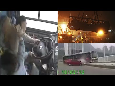 Brian Fink - Insane Video Shows Fight Between Passenger & Driver Caused Bus Crash