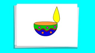 drawing diya step by step very easy
