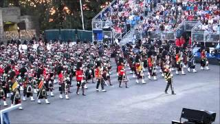 Edinburgh Military Tattoo 2012 -  Massed Pipes and Drums (1 of 3)