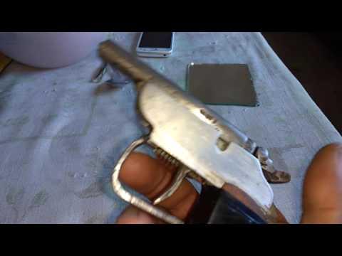 Garrucha calibre 22 fabricação caseira