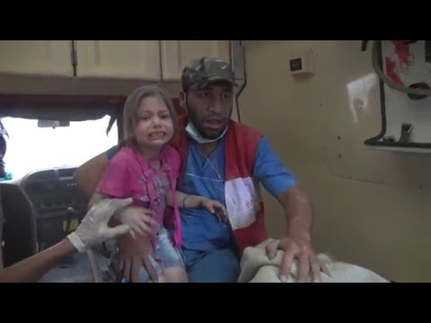 فيديو لحظة سقوط برميل في حلب 29-4-2016