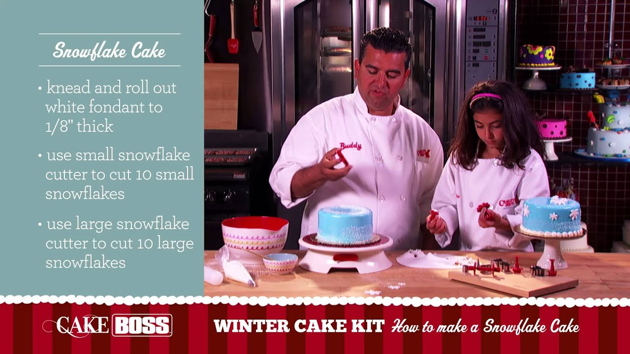 How To Make A Snowflake Cake Garnishing Tips Techniques Boss Baking