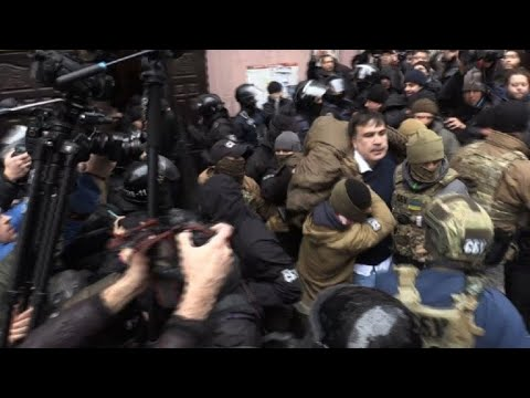Saakashvili arrested in Ukraine as supporters clash with police