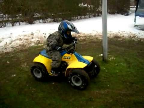 Suzuki 50 atv - YouTube