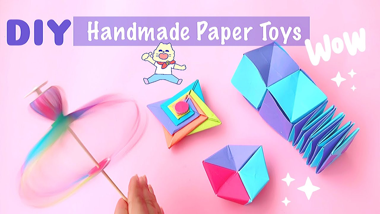 4 DIY Origami paper toys | Homemade Toys To Have Fun Anytime