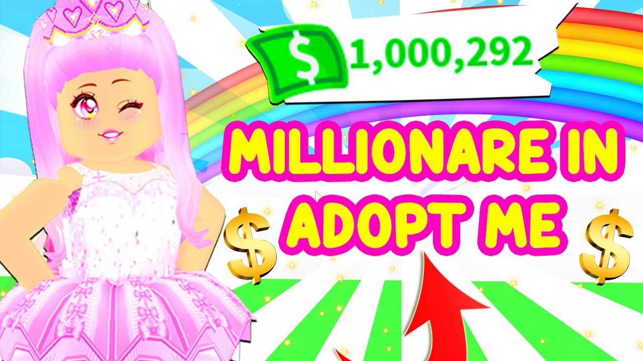 BUYING ONE MILLION BUCKS IN ADOPT ME... FIRST MILLIONAIRE IN ADOPT ME! 500,000 ROBUX SPENDING SPREE