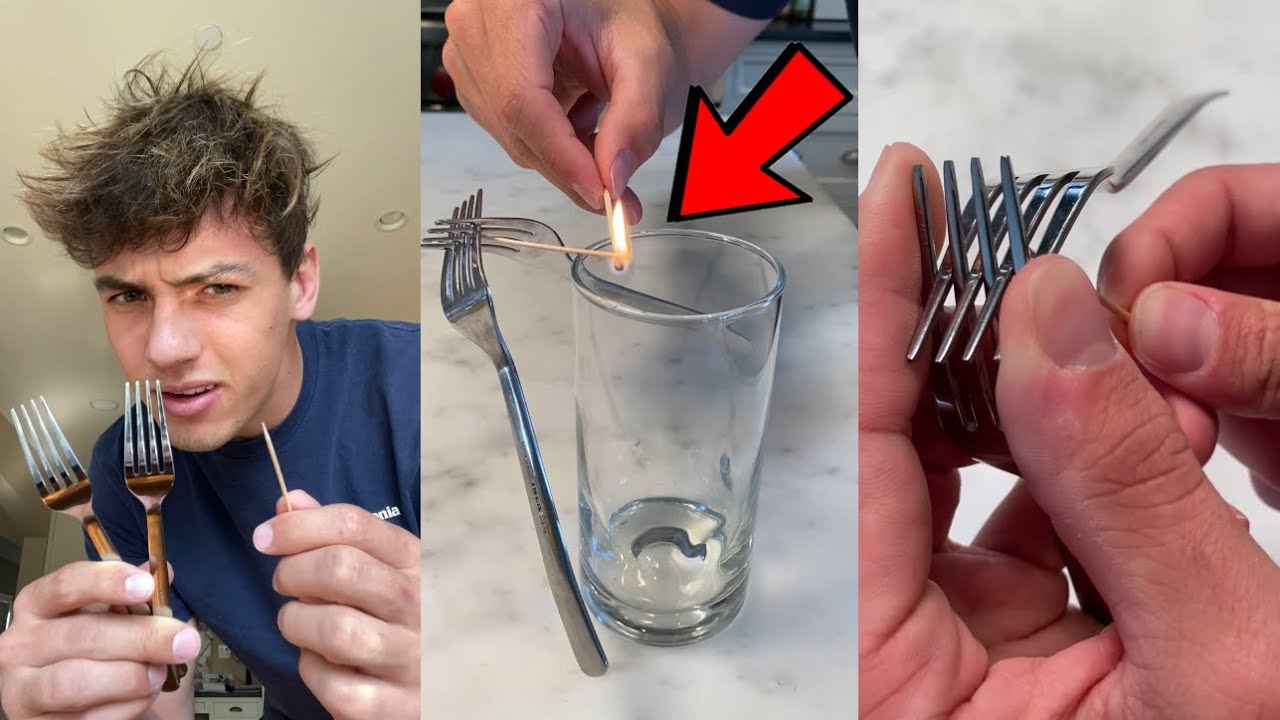 You won't believe this fork balancing trick!! 😱 - #Shorts