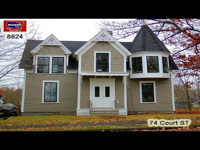 Victorian Homes For Sale In ME | 74 Court ST Houlton ME Video MOOERS REALTY #8824
