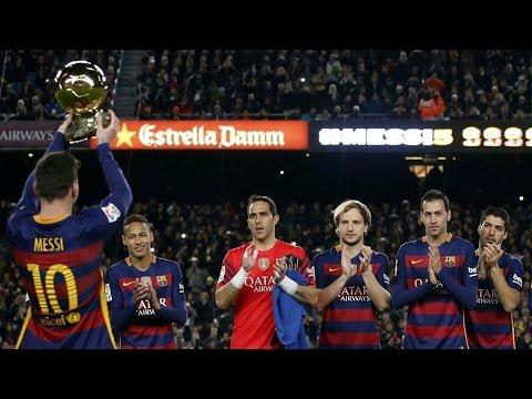 Hi5toric Moment  ► Lionel Messi Presenting His FIFTH Ballon d'Or ||HD|| #Messi5