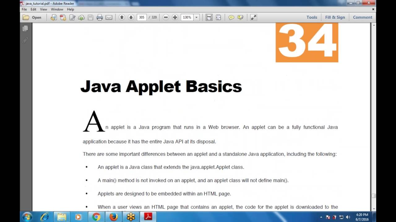 Chapter 34 java applet basics applet basics youtube chapter 34 java applet basics applet basics baditri Gallery