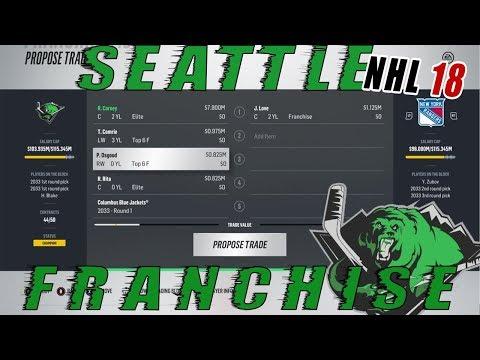 NHL 18: Seattle Franchise Mode #62 FRANCHISE PLAYER TRADE